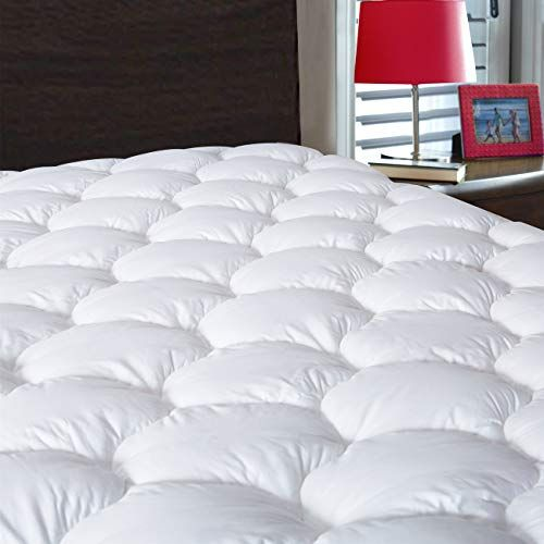 Drovan Waterproof Mattress Pad Cover King Size Breathable Soft Fluffy Pillow Top Cotton Top Down A Mattress Pad Waterproof Mattress Pad Waterproof Mattress