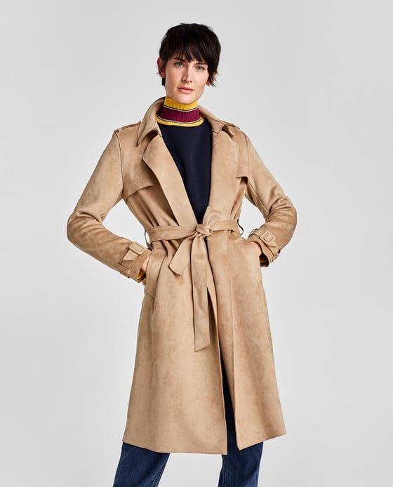 zara mujer chaqueta antelina beis