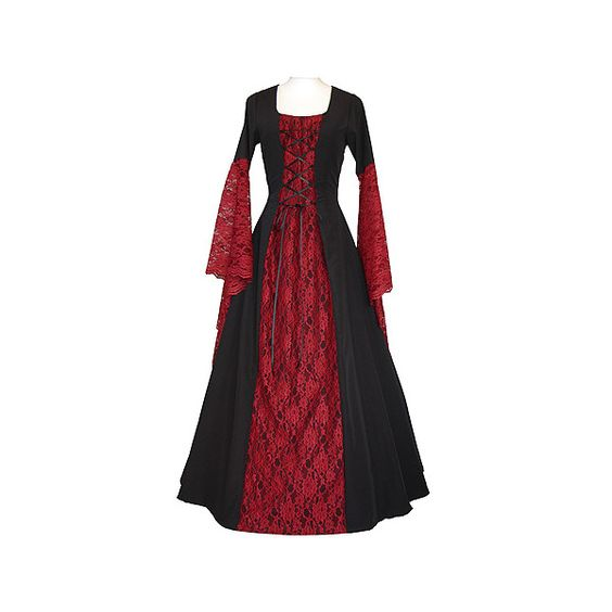 dornbluth.de - mittelalterliche gewandungen ($100) ❤ liked on Polyvore featuring dresses, medieval, medieval dresses, costumes and gowns