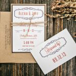 Rustic Wedding Invites, Sherma Mills, Philadelphia Weddings {Queen Bee Paperie}