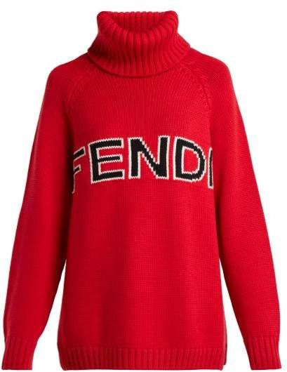 「FENDI Logo intarsia wool roll」の画像検索結果