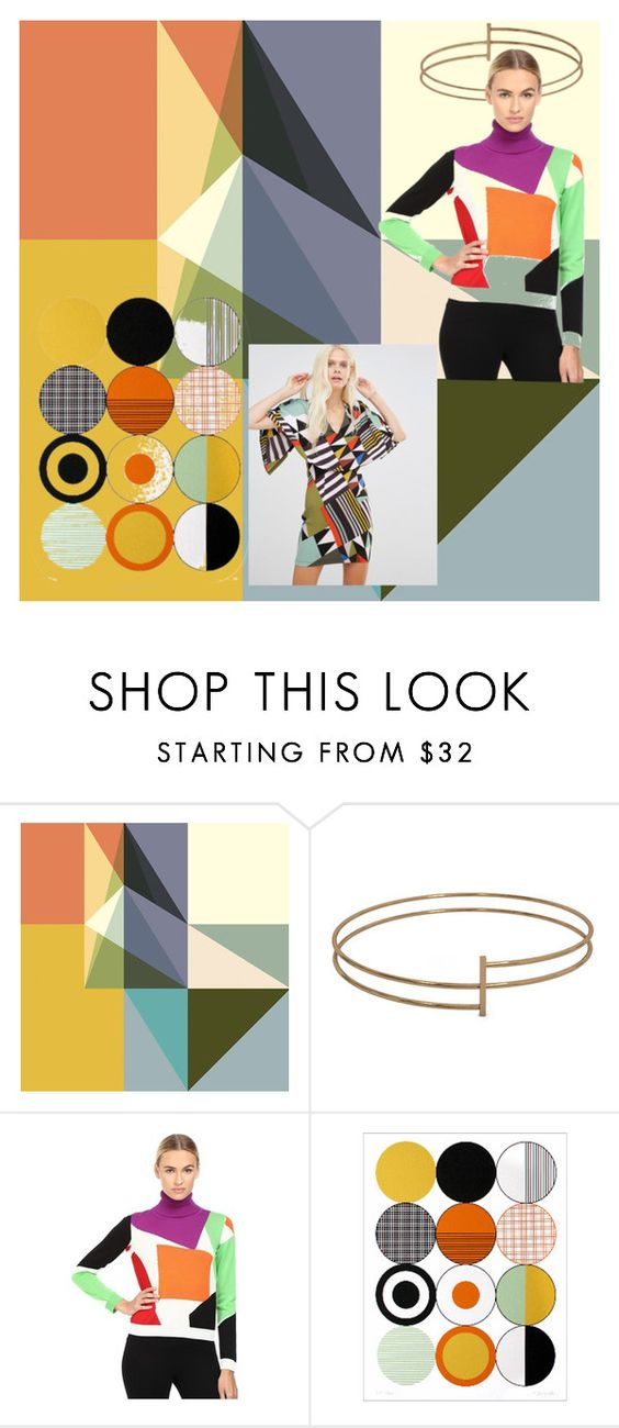 """Geometry"" by mexarchopoulou ❤ liked on Polyvore featuring Dot & Bo, Boutique Moschino and Liquorish"