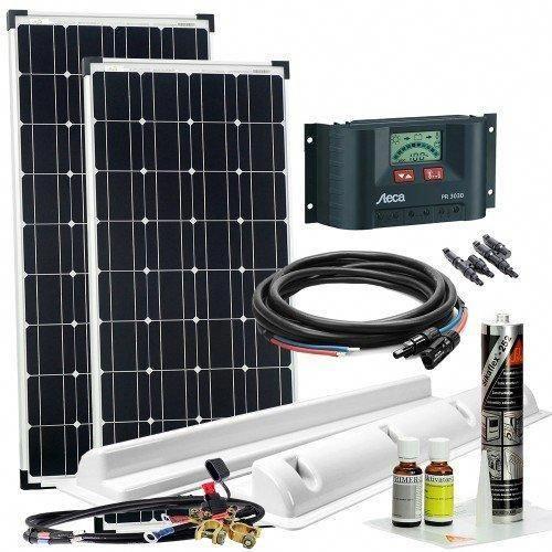 Solaranlage Offgridtec Xl 200 W 12 V Komplettsystem Volkswagenw12custom Solar Kit Solar Power Diy Solar Panels For Home