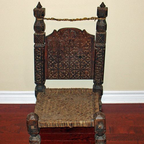 Antique carved wooden chair furniture from swat valley
