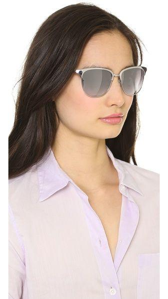 Oliver Peoples Eyewear Leilana Flash Mirror Sunglasses