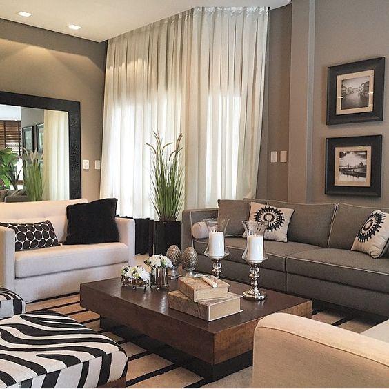 Boa noite living destaque para a sofistica o do branco for Como decorar una sala larga y angosta