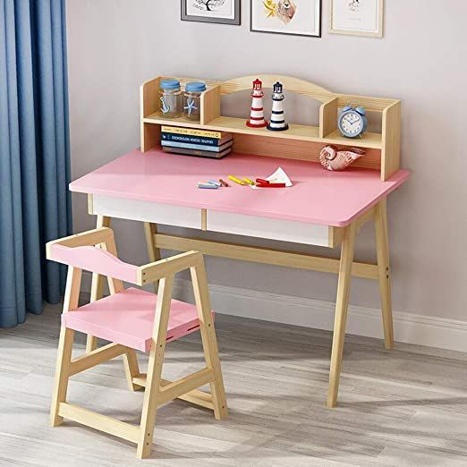 Techecho Kids Desk With Chair Pink Wooden Children S Desk Child Rsquo S Lift Top Desk Amp Chair Bedroom St Childrens Desk Kids Desk Chair Kids Furniture Sets Child desk and chair set