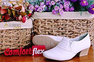Florence Moda Branca :     Linha de calçados Comfortflex você encontra em...