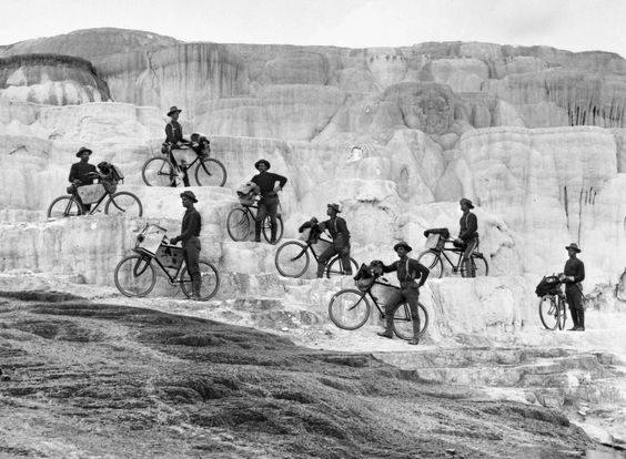 Bicycle corps at minerva terrace yellowstone national for Minerva terrace yellowstone