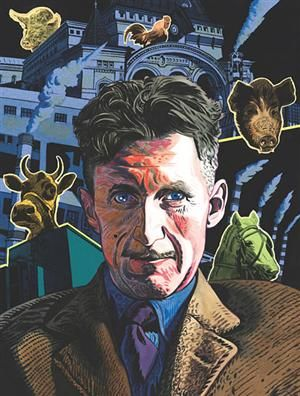 Eric Arthur Blair (1903– 950), better known by his pen name George Orwell, was an English novelist and journalist
