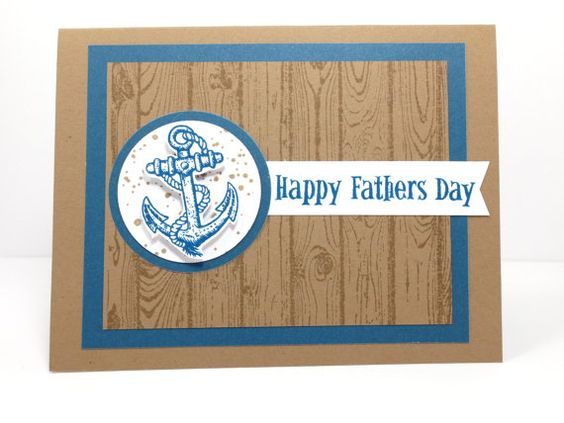 Stampin Up Father's Day, Guy Greetings, Hardwood Background Stamp by StampinINK