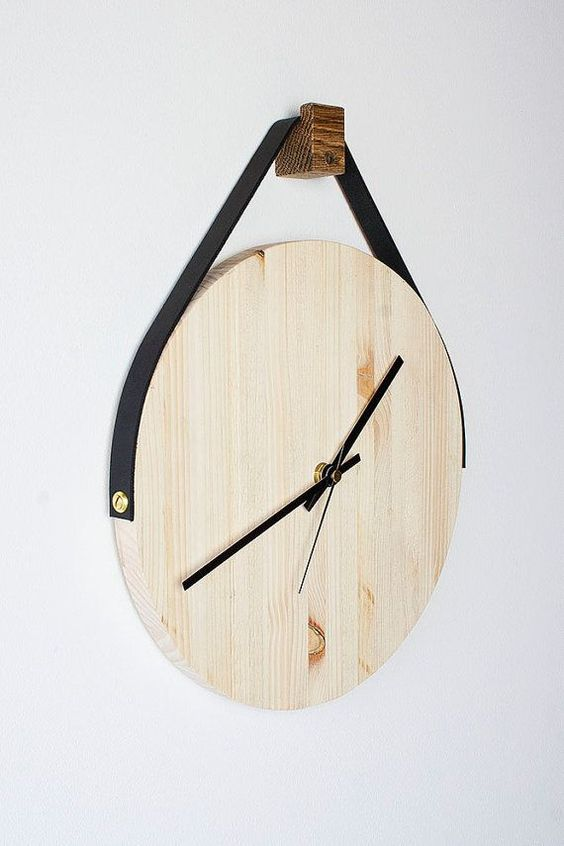I like the concept of using a strap to hang the clock on the wall. Might use the idea in one of my designs.