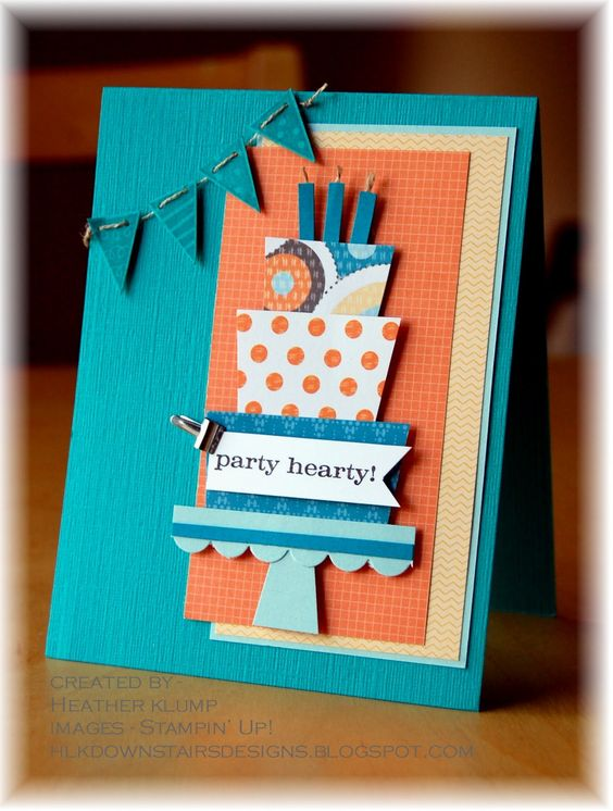 Downstairs Designs: Party Hearty Birthday Card,