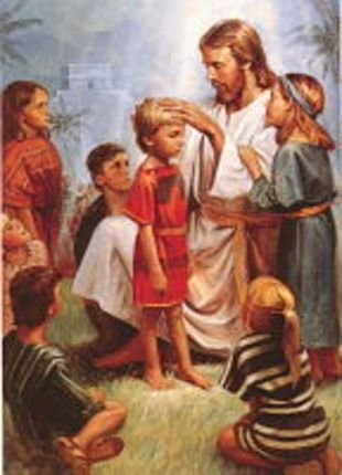 Jesus Blessing The Children Del Parson 3 X 4 Print 0
