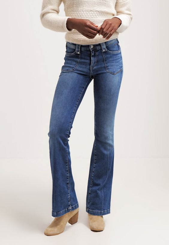 Jean bootcut femme pepe jeans
