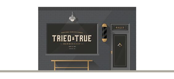 Tried & True Barbershop on Behance