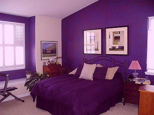 Decorating With The Color Purple Bedroom Color Combination Purple Bedroom Paint Purple Rooms Violet color bedroom ideas