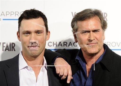 Actors Jeffrey Donovan and Bruce Campbell attend the USA Network and Vanity Fair 2010 Character Approved Awards at the IAC building in New York, on Thursday, Feb. 25, 2010. (AP Photo/Peter Kramer) || via AP Images http://www.apimages.com/Search?query=Jeffrey+donovan&ss=10&st=es&entitysearch=P|Jeffrey+Donovan|EB19CE2BD7224DC5A62034BA19716297&toItem=15&orderBy=Newest