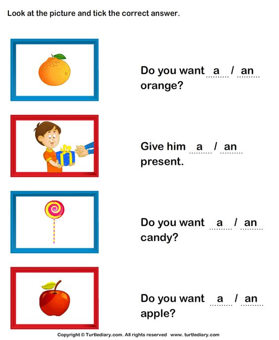 Teaching articles to ESL EFL kids Try these worksheets EFL – And Worksheets for Kindergarten
