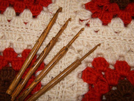 Wood Crochet Hooks, Handmade via Etsy