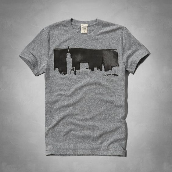 Mens - Watercolor NYC Graphic Tee   Mens - Graphic Tees   eu.Abercrombie.com