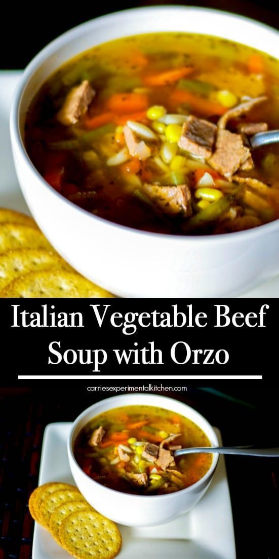 Italian Vegetable Beef Soup With Orzo Recipe Beef Soup Recipes Vegetable Beef Soup Beef Soup