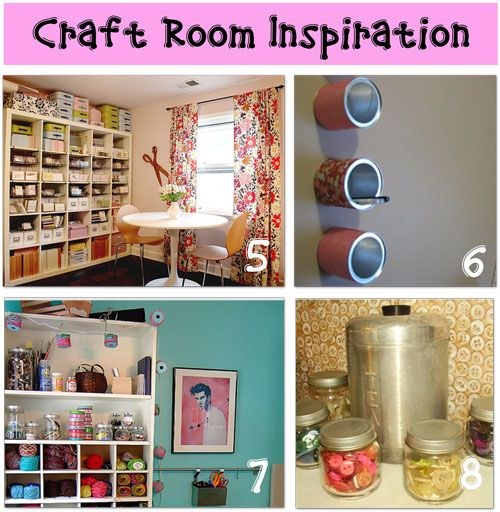 craft room organization, love room number 5 found @tip junkie's craft room inspiration page