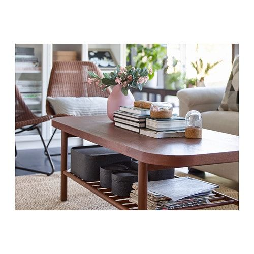 Ikea Listerby Brown Coffee Table In 2020 Coffee Table Design