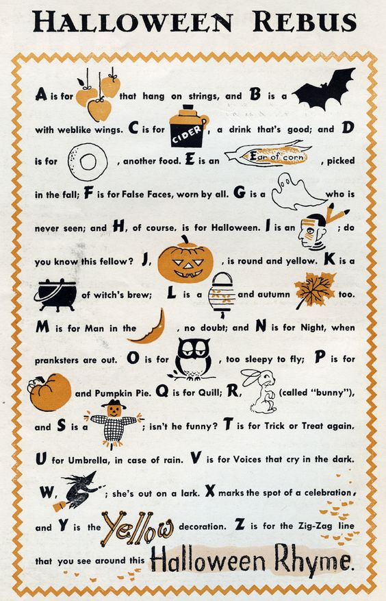 Halloween Rebus Spook Pinterest Halloween Jack And Jill And Jack O Connell
