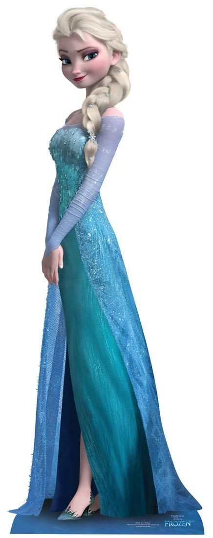 elsa from frozen disney cardboard cutout standee disney schneek nigin und gefroren. Black Bedroom Furniture Sets. Home Design Ideas