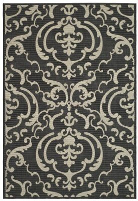 Safavieh Courtyard Collection CY2663-3908 Black and Sand Indoor/Outdoor Area Runner Rug, 2-Feet 4-Inch by 6-Feet 7-Inch by Safavieh. $54.81. The powerloomed construction add durability to this rug, ensuring it will be a favorite for a long time. The modern style of this rug will give your room a contemporary accent. This rug features a black background with a pattern in shades of natural sand. This runner measures 2-feet 4-inch by 6-feet 7-inch. 100% Polypropylene Pil...