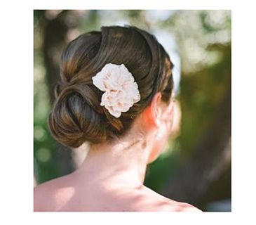 Bride with a chignon updo