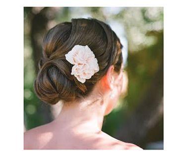 Bride with a chignon updo
