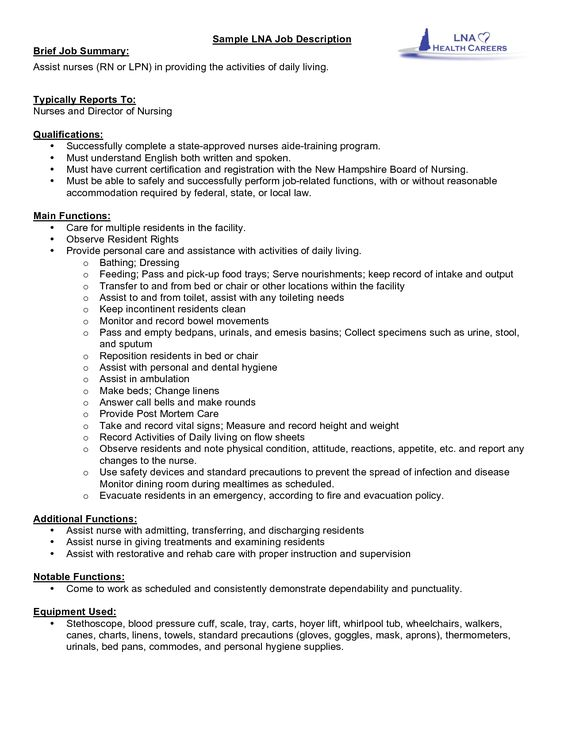 server job resume description sample with professional servers for - director of nursing job description
