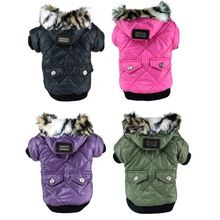 Large Puppy Dog Cute Warm Coat For Pet Faux Pockets Fur Trimmed Dog Hoodies Jacket Costume(China (Mainland))