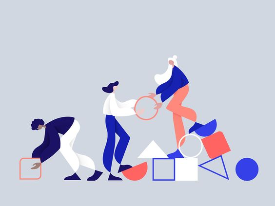 Collaboration: helping each other in order to achieve a common goal. Illustration by Nata Schepy #illustration #illustrationinspiration #illustrationdesign #illustrationdesign #presentationillustrations