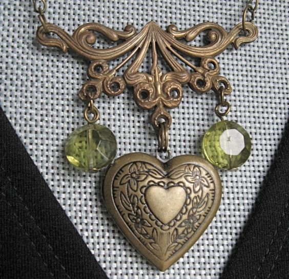 My dear 81 year old jewelry designer friend just designed HEART LOCKET. $26.00.  I just love this!