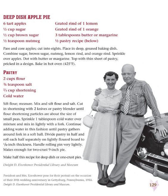Are you making Mamie Eisenhower's apple pie this year?