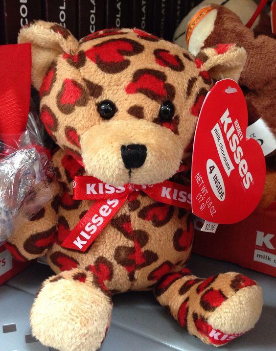 Stuffed Animal/Leopard Print/Walmart/Valentine/Hersheyu0027s Kisses    Valentineu0027s Day Fun!   Pinterest