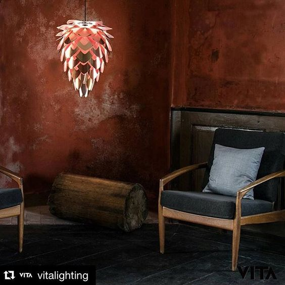 Light up this dreary day with @vitalighting's own testament to Autumn - the gorgeous Conia Pendant Light Shade in a beautiful autumnal copper colour ❤️#Autumn #interiors #interiordesign #home #homedesign #homeinteriors #lighting #nordic #scandinavian #instahome #homeinspo #vita #scandinaviandesign