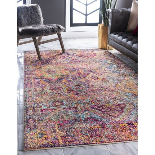 Piland Abstract Red Yellow Area Rug In 2020 Rugs Area Rugs