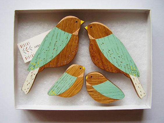 Wooden wall bird want! - Wooden Wall Birds Family sets by AnnaWiscombe on Etsy, £32.00