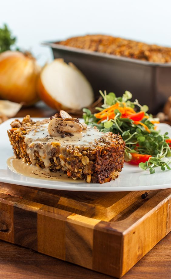 "Vegan ""Meatloaf"" -Nut Loaf"