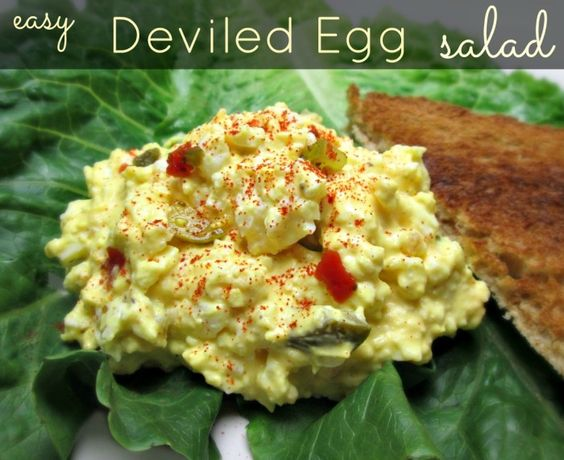 Easy deviled egg salad recipe eggs soft foods and salads for How to make homemade deviled egg potato salad