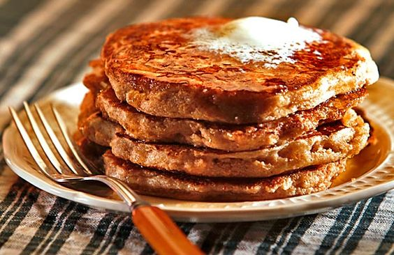 Whole-wheat pancakes, recipe in LA Times