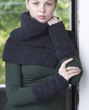 Knitting Pattern Shawl With Cuffs : Free Knitting Pattern: Collar and Cuffs Which scarf to make Pinterest Y...