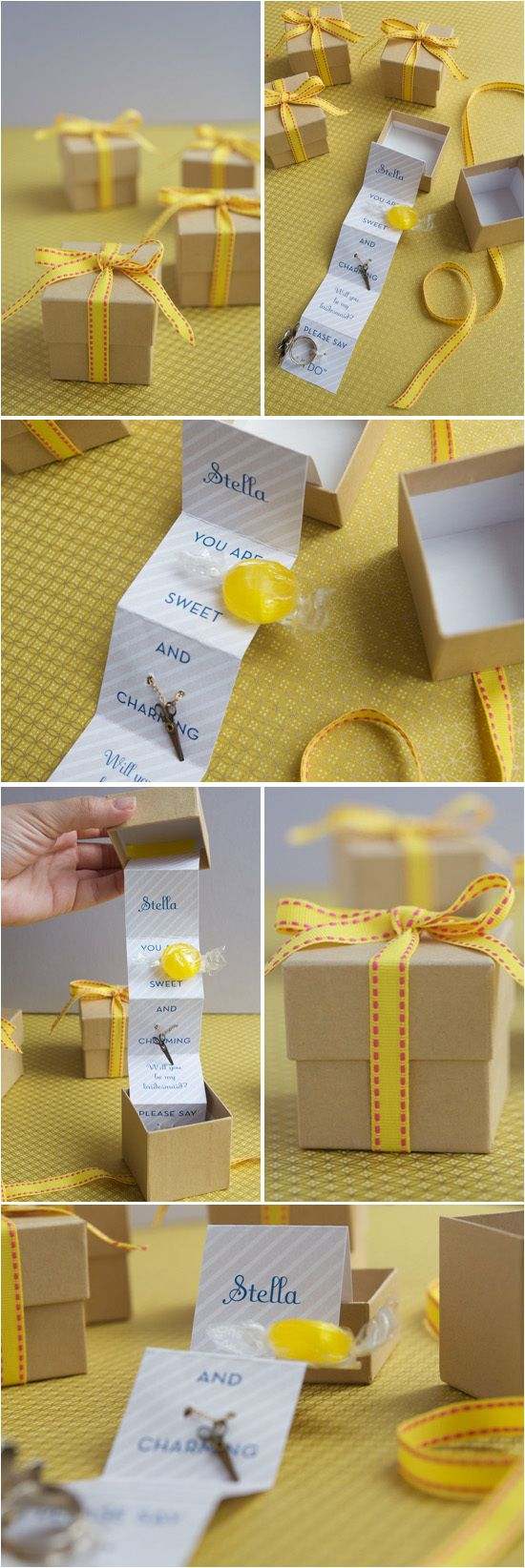 DIY: Bridesmaid Gift Boxes via Project Wedding