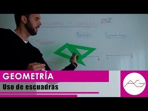 Geometría Uso De Escuadras Paralelas Y Perpendiculares Youtube Paralelas Y Perpendiculares Geometría Videos De Dibujos