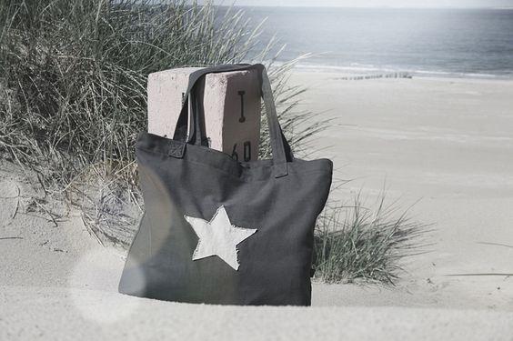 Snuggles-Cottage Shop Canvastasche - Fulla Canvas Shopper Schultertasche XL mit Stern - ein…