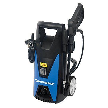 Silverline 102580 Pressure Washer Max 105 Bar 1650 W Pressure Washer Silverline Washer Cleaner